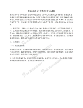 张家山镇中心小学规范办学行为制度