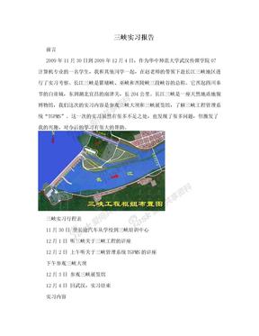 三峡实习报告