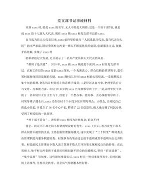 党支部书记事迹材料