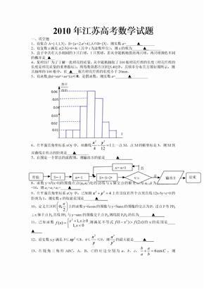 2010年江苏省高考数学试卷客观题解析