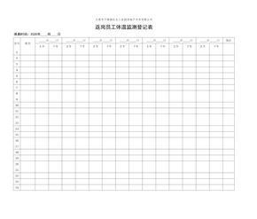 开工后员工每日体温登记表.xls