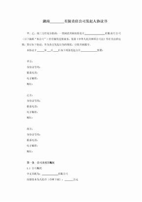 有限责任公司发起人协议书12