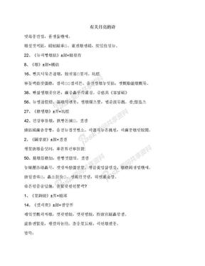 有关月亮的诗