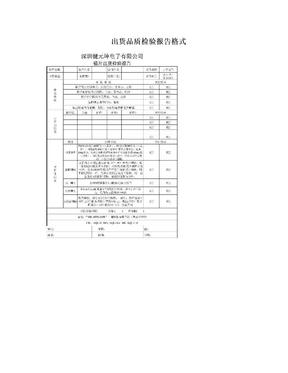 出货品质检验报告格式