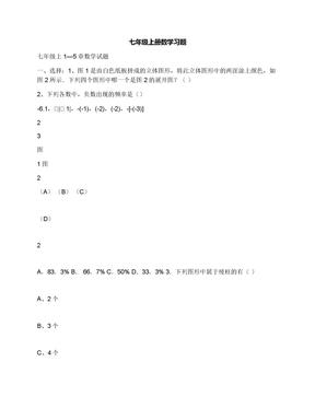 七年级上册数学习题