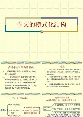 作文模式化结构