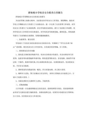 群仙观小学校舍安全检查自查报告