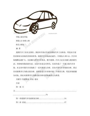 汽车市场调查报告