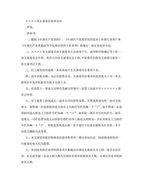 党支部委员选举办法