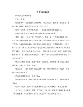 初中语文阅读