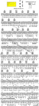 音乐人整理顶级吉他谱唐磊丁香花