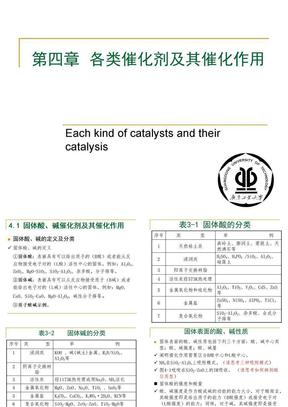 第四章 酸碱催化剂及分子筛