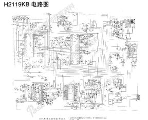 长虹 H2119KB型彩色电视机电路原理图