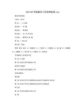 201109学校德育工作组织机构.doc