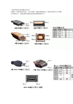 标准USB,Mini-USB接口定义