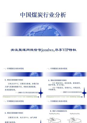 专家分析中国煤炭行业分析