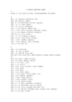 《三国演义》人物关系图(完整版)