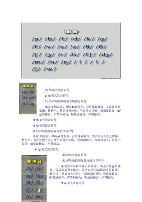 英语国际音标(英式英语)48个音标发音规则...