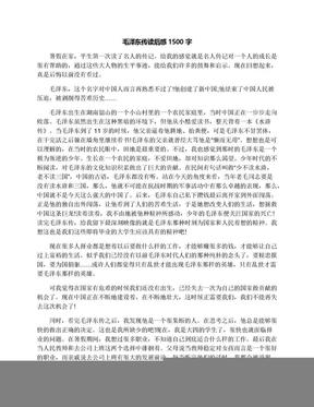 毛泽东传读后感1500字