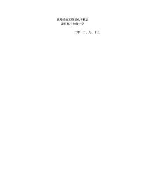 教师绩效工资量化考核表