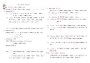 初中语文阅读知识点总结