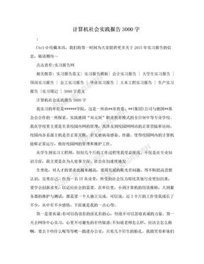 计算机社会实践报告3000字