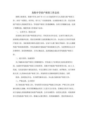 龙集中学清产核资工作总结