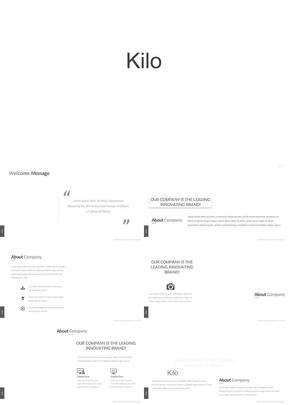 kilo 60页动态黑白配色商务演示工作总结投资计划ppt模板