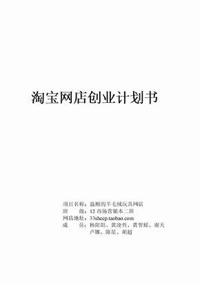 淘宝网店创业计划书完整版本