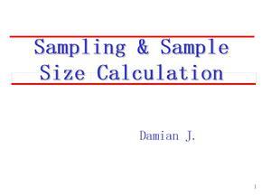Sampling-and-sample-size-calculation-样本量计算方法大全PPT课件