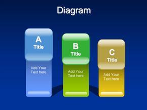 ppt模板--蓝色梦幻--白色简洁--商务简洁--各种比较图表--柱状图-金字塔图--饼状图(2)