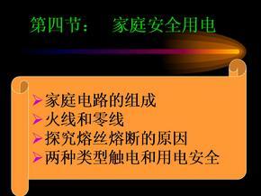 苏科版初中九上15.4家庭安全用电ppt课件