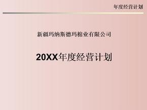 【案例学习】-XX棉业公司20xx年度经营计划