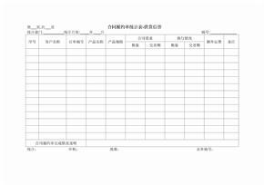 合同履约率统计表
