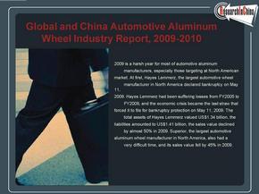 汽车铝轮毂Global-and-China-Automotive-Aluminum-Wheel-Industry-Report--2009-2010