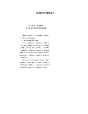 政府采购调研报告