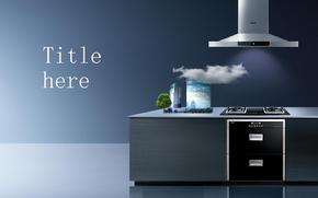 抽油烟机厨房电器产品介绍市场分析ppt模板