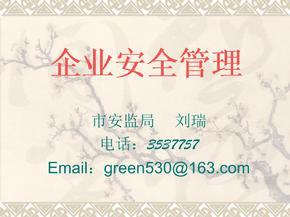 刘瑞-企业安全管理