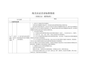 海关认证企业标准指南(高级认证-通用标准)