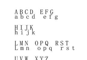 26个英文字母大小写格式