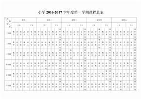 小学课程表总课程表 (2)