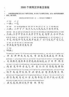 3500常用汉字表拼音版.doc