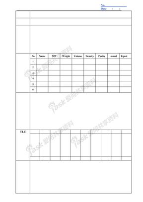 实验格式记录表