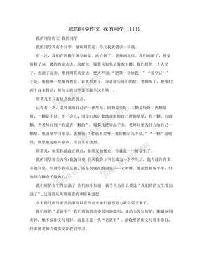 我的同学作文 我的同学_11112