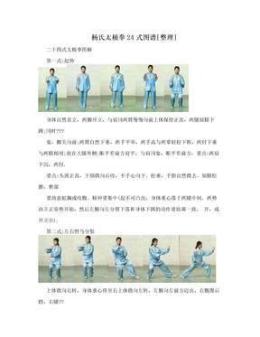 杨氏太极拳24式图谱[整理]