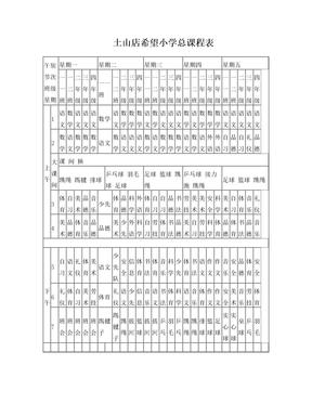 小学总课程表