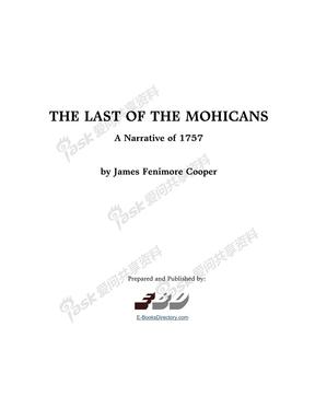 最后的莫西干The_Last_Of_The_Mohicans