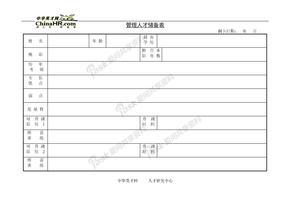 档案管理管理人才储备表