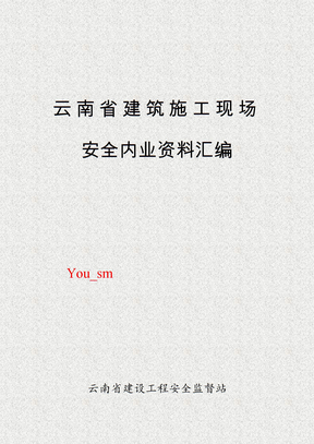 云南省安全资料台账全套(1)