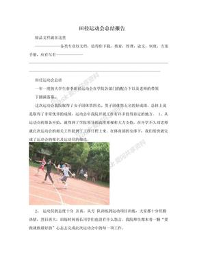 田径运动会总结报告